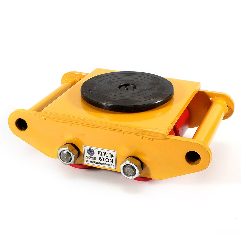 Machinery Mover,360 Degree Rotation Cap 6 Ton Capacity Industrial Dolly Machinery Skate Mover Roller Dolly with 4 Polyurethane wheels (Yellow) by NOPTEG (Image #2)