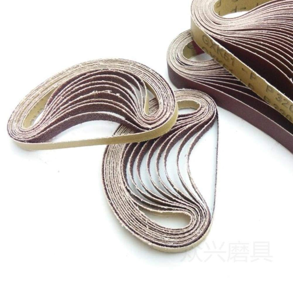 533 mm Lijado Cintur/ón de lija 40-600 Lijadora Lijadora para taladro Pulido Herramienta de pulido 320 10Pcs Dremel Accesorios 30