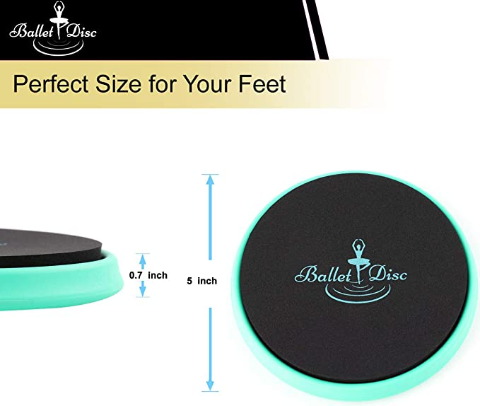 Dance Disc for Dancers Releve Turn Balance and Pirouette Technique Cosybreeze Ballet Turn Disc Portable Spin Turning Board with Carrying Bag Gymnastics and Ice Skaters Improve Your Spinning