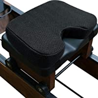 Cojín de remo de espuma viscoelástica, cómodo cojín para máquina de remo de interior, con funda lavable, antideslizante, resistente al sudor, duradero, 32 x 22 x 7 cm, universal