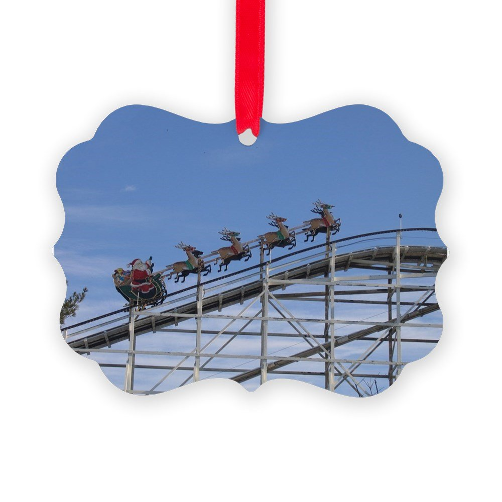 CafePress - Up On The Rollercoaster - Christmas Ornament, Decorative Tree Ornament