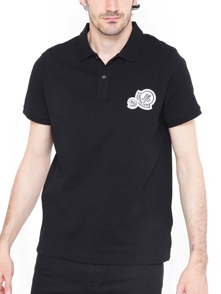 (モンクレール) MONCLER シンプル カラー Wワッペン 半袖 ポロシャツ [MC830420084556] [並行輸入品] B079ZRGZ97 X-Large|ブラック(999) ブラック(999) X-Large