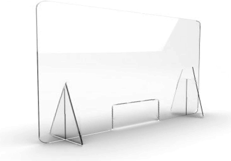 Pantalla Protección Mostrador 100x80cm - Fabricada en Metacrilato ...