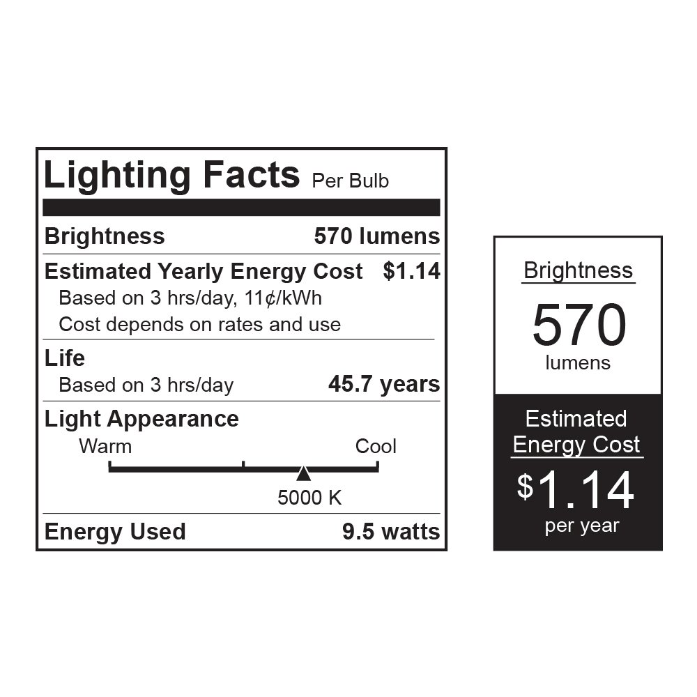 Feit LEDR56/3K LED 5-Inch to 6-Inch Dimmable Retrofit Feit Electric Company LEDR56/830