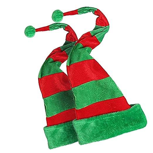 7111bb6baf60a Amazon.com  Zuozee 2 Pack of Unisex Adult Green Elf Hat Christmas ...
