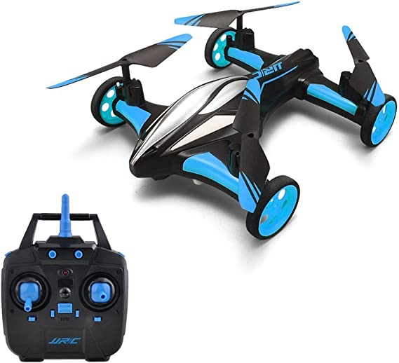 Goolsky JJR/C H23 2.4G 4CH 6-Axis Gyro Air-Ground Flying Car RC Drone RTF Quadcopter with 3D Flip One-key Return and Headless Mode