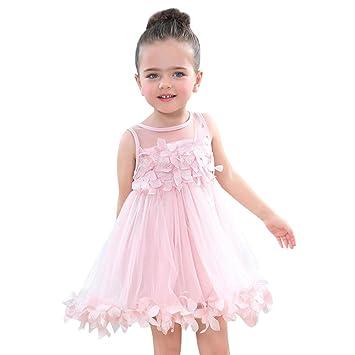 Kinder Mädchen Party Prinzessin Kleider mit Blume Applique Sommer ...