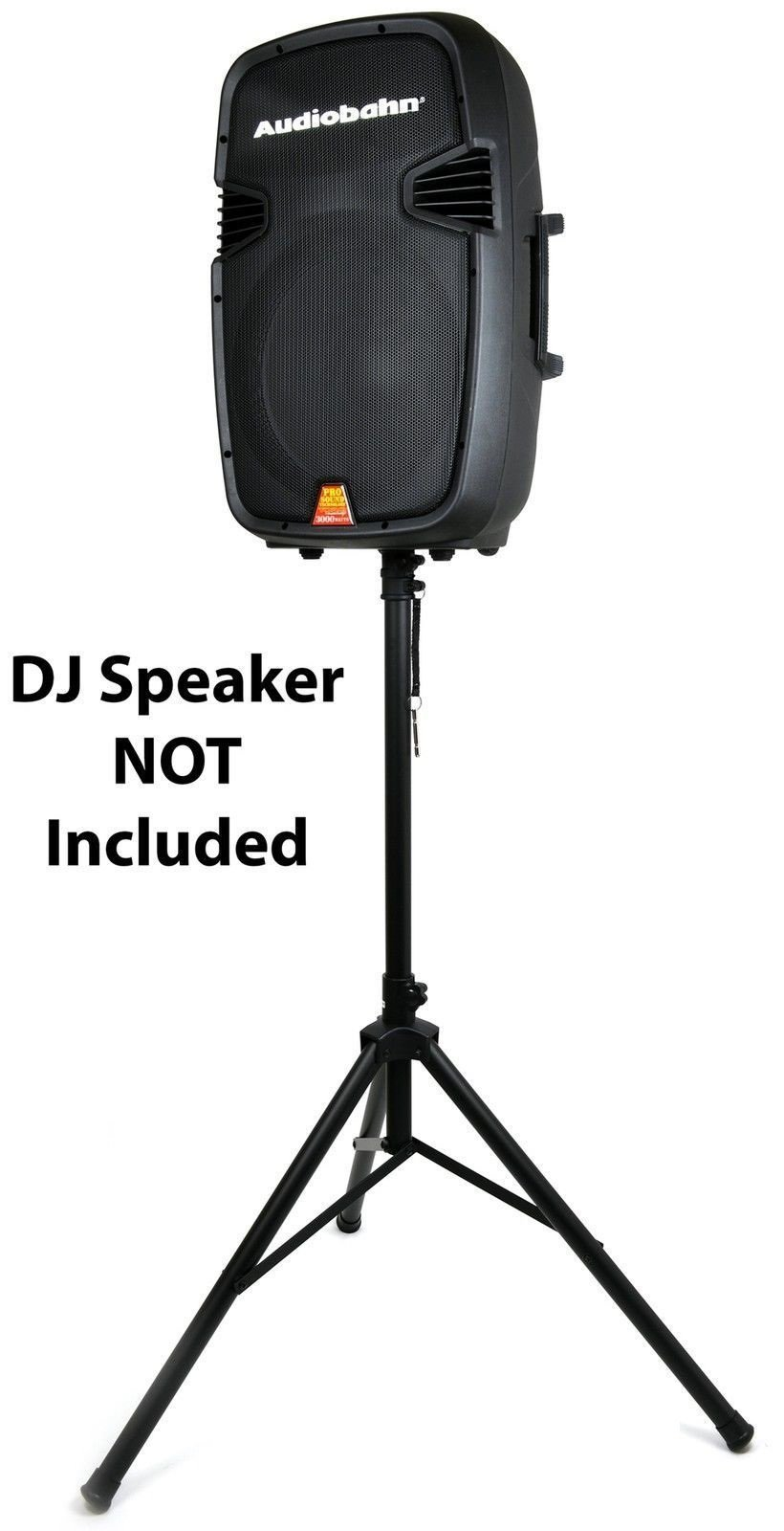 """Universal Heavy Duty 80 LBS DJ Speaker Tripod Equipment Stand w/Adjustable Height from 40"""" to 72"""" Mount Holder Easy Mobility Safety PIN and Knob Tension Locking for Stability"""