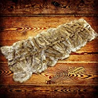 Faux Fur Wolf Skin Carpet Runner / Faux Fur Rug / Plush Shag Pelt Rug (8)