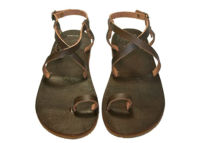 09b09599d96b22 Image Unavailable. Image not available for. Color  Brown Laoi Leather  Sandals for Women   Men - Handmade ...