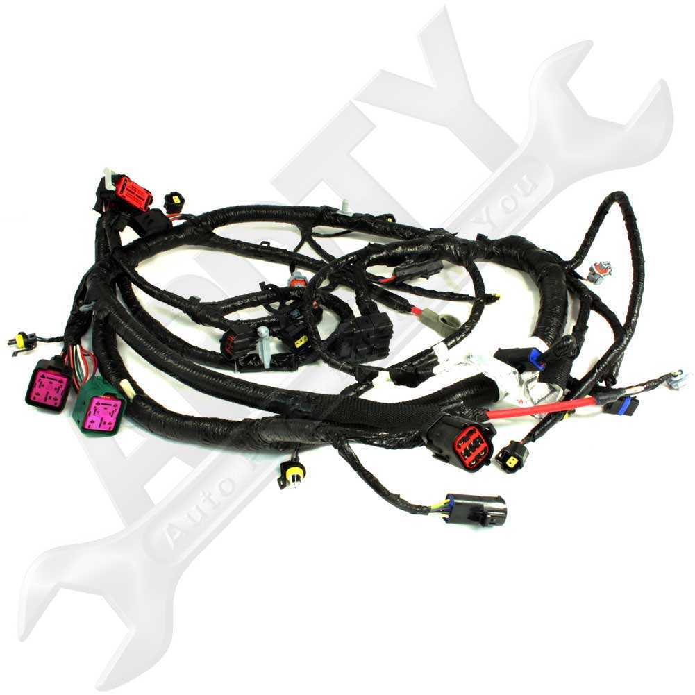 Engine Wire Harness Wiring Protection Oe Ford 5c3z12b637ba 60l Diesel Pigtail Connector