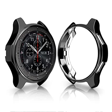 Case Fit Samsung Gear S3 Frontier & Classic& S4 Galaxy Watch 46mm, FOLOME Soft TPU Plated [Scratch-Proof] All-Around Protective Bumper Shell ...
