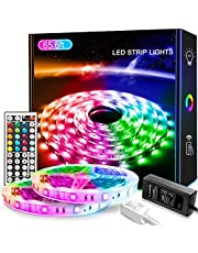 LED Strip Light 65.6ft/20M, Xkey Led Lights Color Changing RGB SMD 5050 LED Strip Light Kit with 44 Keys IR Remote Controller and Power Supply for Home Decoration
