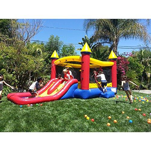 Best Seller Swimming Pool Water Slide | JumpOrange Kiddo Jump and Water Slide Fun House by JumpOrange
