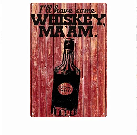 shovv Scotch Vintage Carteles de Chapa de Metal Whisky ...