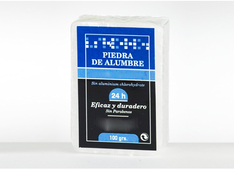 Piedra de ALUMBRE Bloque 100 gr Astringente y Desinfectante para Afeitado 7006 ONOGAL