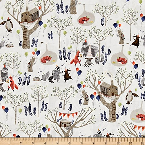 Dear Stella Foxtail Forest Treetop Party Multi Fabric By The Yard (Racoon Tail)