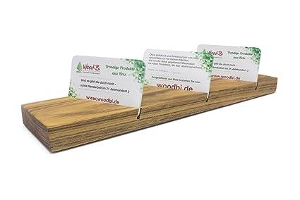 woodbi | Soporte para tarjeta de visita de madera para ...