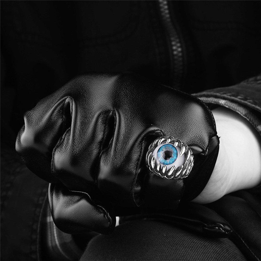 ZHOUBA Cr/âne de Dragon pour Homme Mauvais /œil du Diable Gothique Biker Anneau Punk Finger Bijoux Cadeau