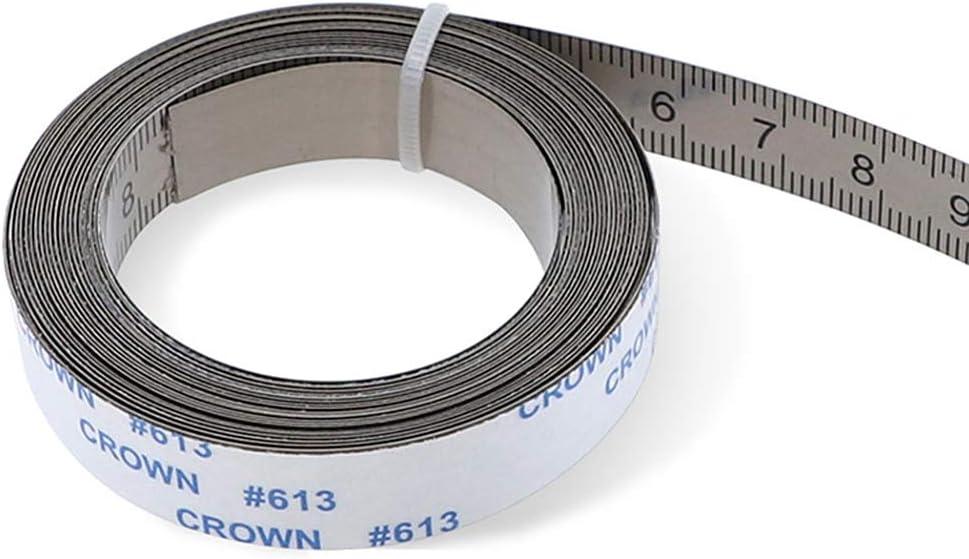 Honsin Edelstahl Gehrungsschiene Ma/ßband selbstklebende metrische Skala Lineal 2m C