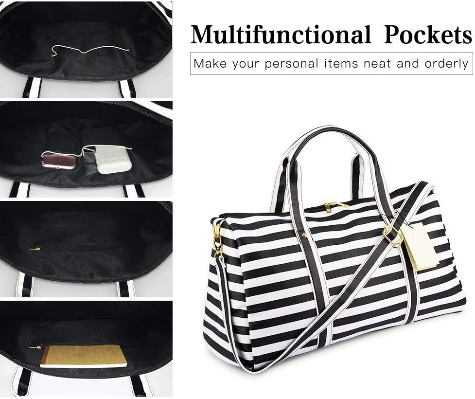 MUTANG Large PU Handbag Women Shoulder Messenger Bag Waterproof Weekender Bag Travel Tote Bag Sports Gym Holdall