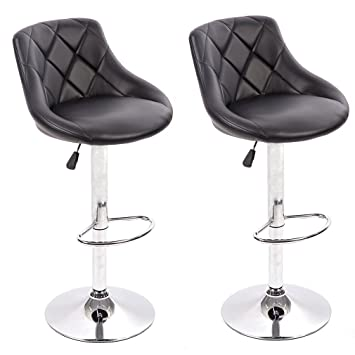 amazon com bestmassage pu leather bar stools modern swivel dinning