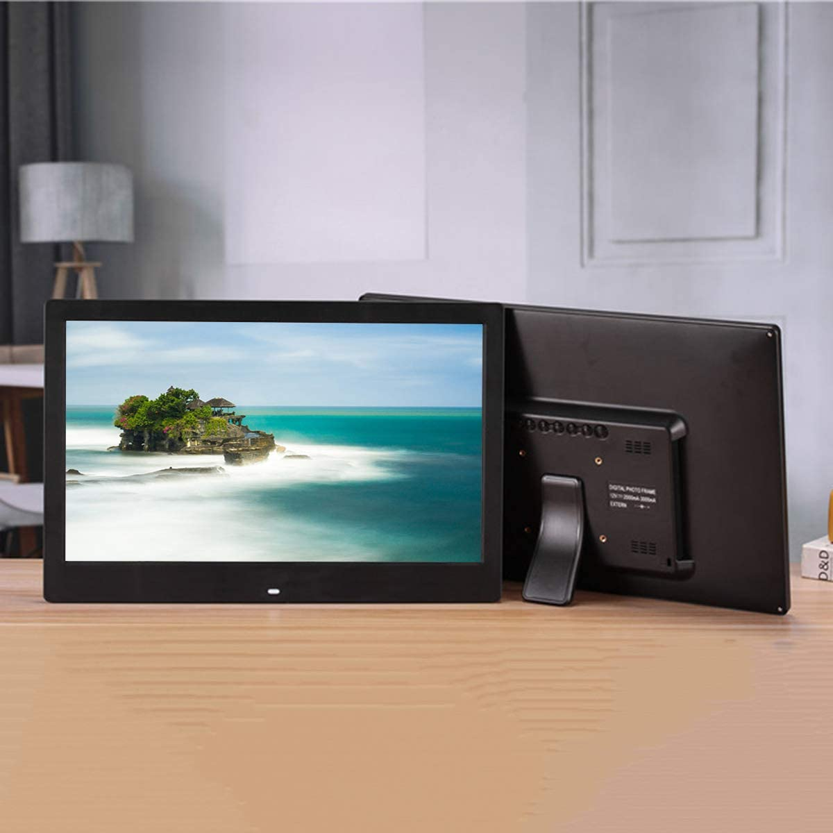 Music//Video//Picture Playback Black Color//White Color 17.3 inch Home Electronic Photo Frame Full Viewing Angle IPS Screen 1920 /× 1080 high Resolution