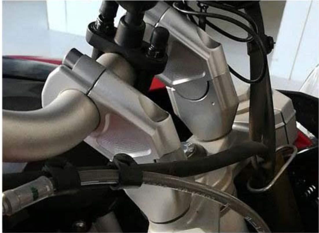 Motorrad schwarz Lenkererh/öhungen Klemmhalterung Lenker Riser f/ür BMW F700GS F700 GS F 700 GS F 700GS 2013-2017 F650GS F 650 GS F 650GS F650 GS F650 GS Silber