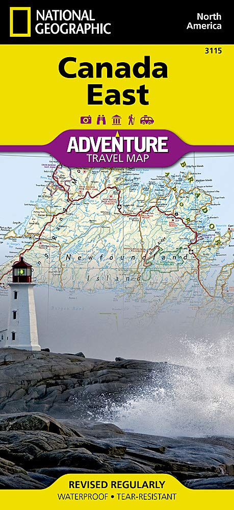 Map Of Canada East.Canada East National Geographic Adventure Map National Geographic