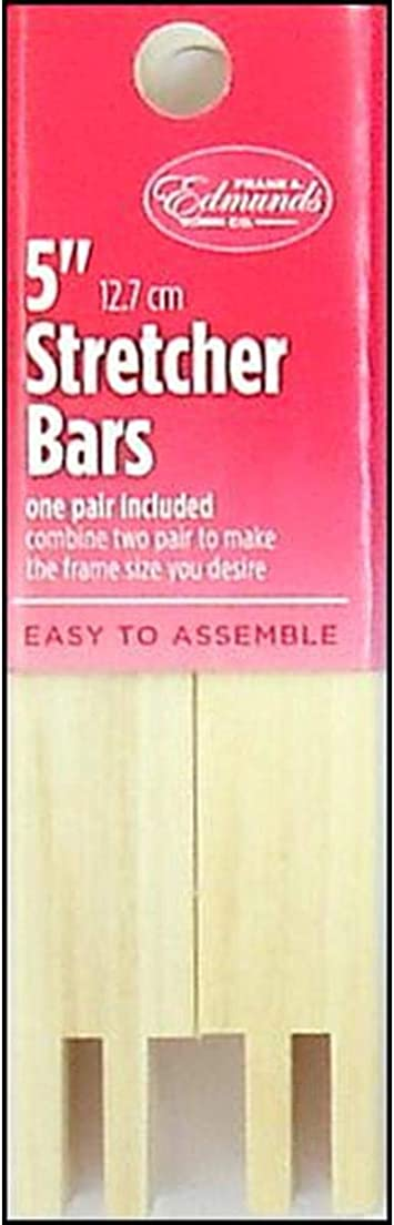 Frank A Edmunds Mini Canvas Stretcher Bar Bars 5 Inches X 1//2 Inch Bundle with Artsiga Crafts Small Project Bag
