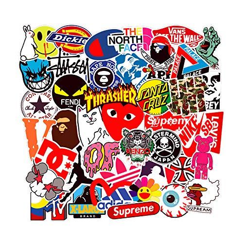🥇 Cool Brand Stickers 101 Pack Decals for Laptop Computer Skateboard Water Bottles Car Teens Sticker