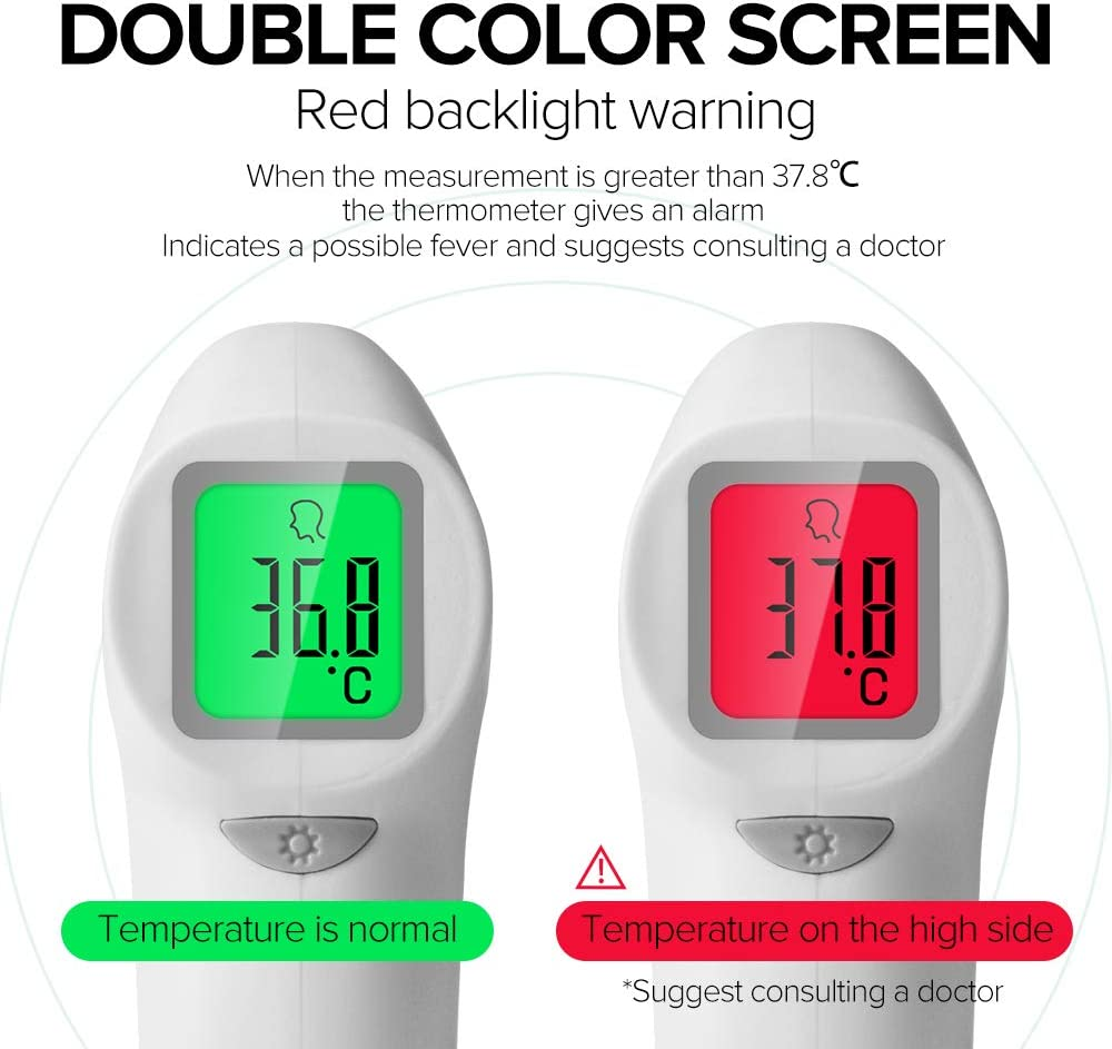 Coniler Digital Forehead Thermometer,Rapid Measurement,Suitable for Babies Children Indoor Adults and Outdoor Using