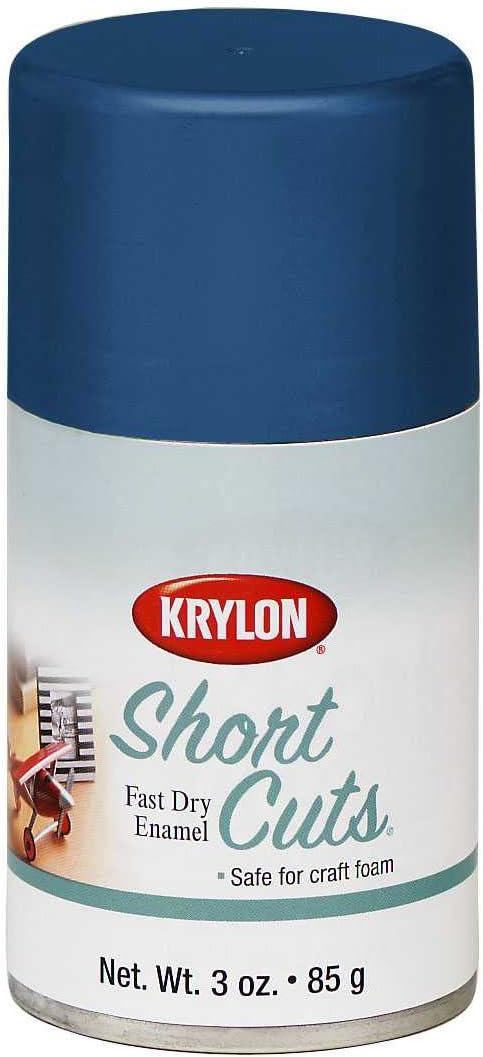 Krylon KSCS034 Short Cuts Aerosol Spray Paint, 3-Ounce, Ocean Blue