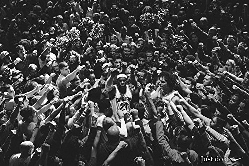 Fabric James Lebron (Tomorrow sunny KingJames LeBron James Classic Poster Art Wall Pictures for Living Room in Canvas fabric cloth Print)