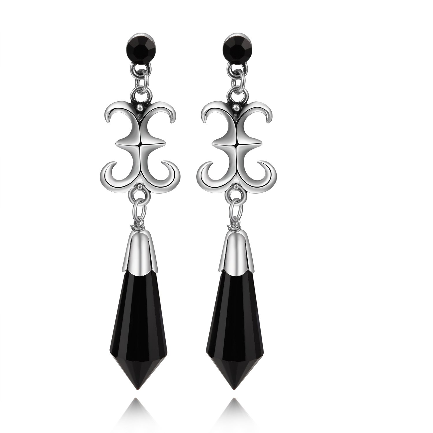 Super Amazon.com: Cosplaywho Sailor Moon Black Lady Earrings (gold studs  MX26