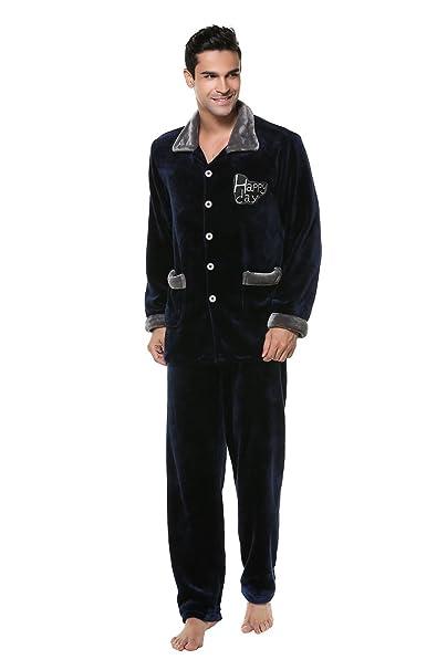 Elegante pijamas de pijamas de pijamas de manga larga de franela se puede utilizar al aire