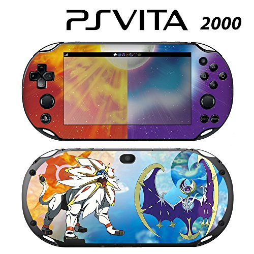Skin Decal Cover Sticker for Sony PlayStation PS Vita Slim (PCH-2000) - Pokemon Sun and Moon -  Decals Plus, PV2-PK08