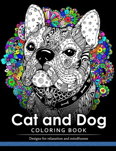 Cat and Dog Coloring Book: The best friend animal for puppy and kitten adult lover