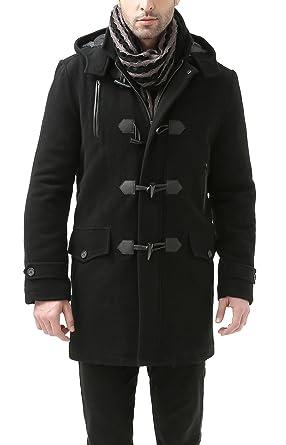 677a4cbfc2c61 BGSD Men s  Tyson  Wool Blend Leather Trimmed Toggle Coat (Regular ...