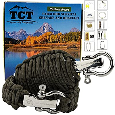 The Camping Trail Paracord Grenade And Paracord Bracelet Set