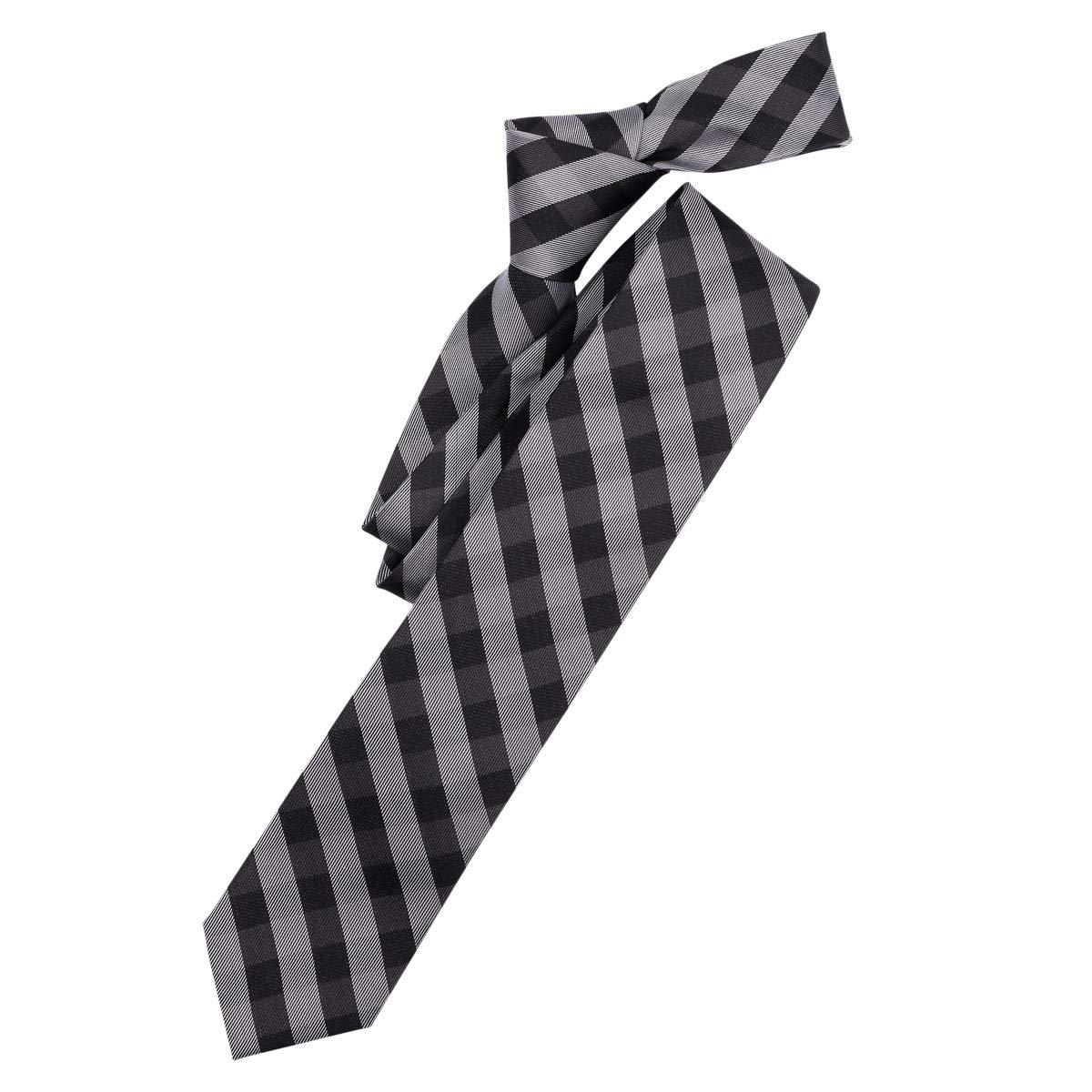 Venti Corbata Gris-Negro a Cuadros XXL, One Size:One Size: Amazon ...