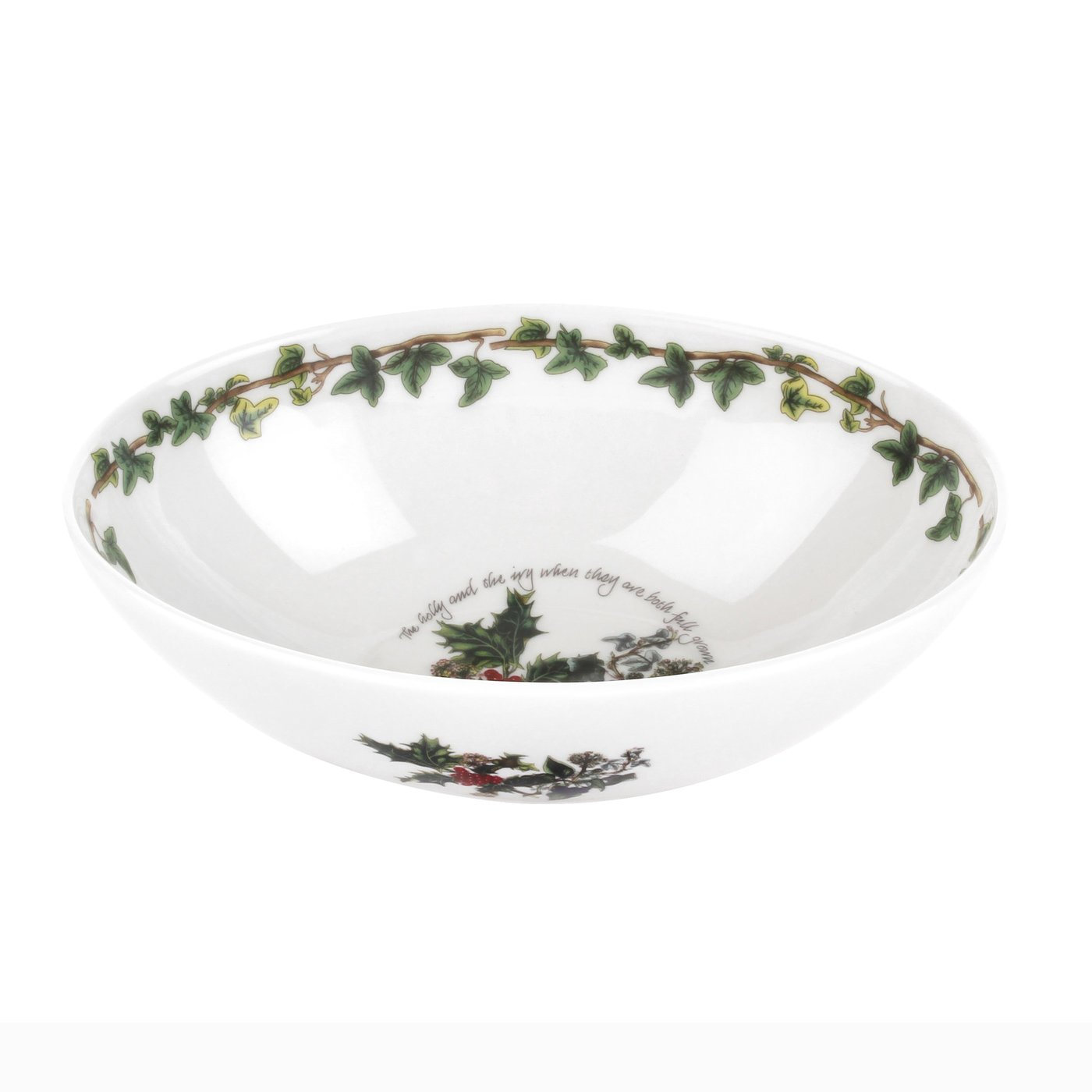 Portmeirion The Holly & The Ivy Oval Bowl by Portmeirion