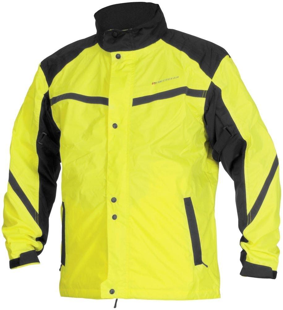 Firstgear Sierra Rain Jacket (Large) (Dayglo/Black) by Firstgear