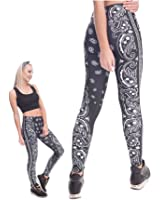Qiyuxow Yoga Leggings Digital Print Skinny Pants - Super Stretch