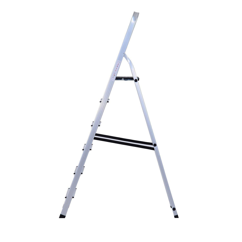 6 Pelda/ños HOMCOM Escalera de Aluminio Tijera Plegable 4//5//6 Pelda/ños 150kg Plegable Plateado NUE