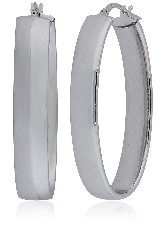 Amazon.com  Silverluxe Women s Sterling Silver Large Oval Hoop Earring 1  3 4