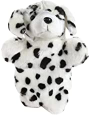 Adorable Spotty Dog Dalmatian Hand Puppet Animal Pet Puppy Story Telling Prop Easily Animate Play Glove Soft Fur Doll Plush Toy