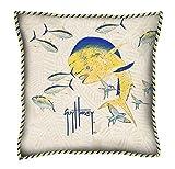 Guy Harvey Outdoor Dorado Pillow with Cord (18 in.)