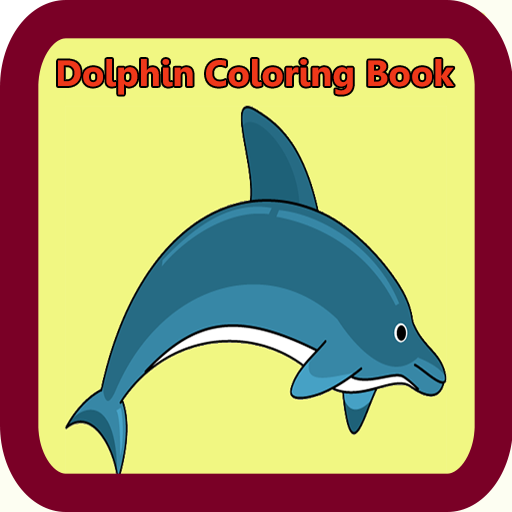 P G Apps Dolphin Coloring Book product image