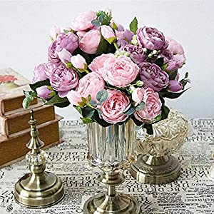 Beautiful Rose Peony Artificial Silk Flowers small bouquet flores home party spring wedding decoration mariage fake Flower 66